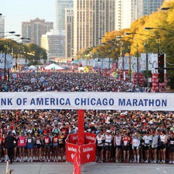 Chicago Marathon start line